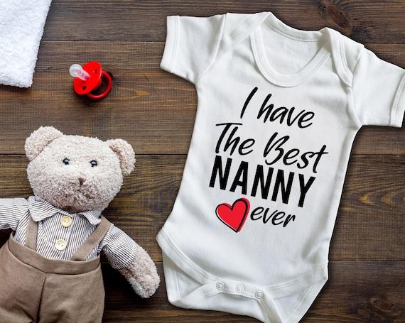 Happy Birthday Nanny Pink Girls Baby Grow Vest Bodysuit