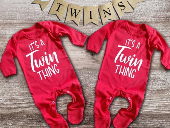 Best Friends Twins blue rompersuit sleepsuit bodysuit Set For twin baby boys