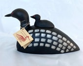 The Painted Bird Richard A. Morgan STAMPED Small Loon with Chick