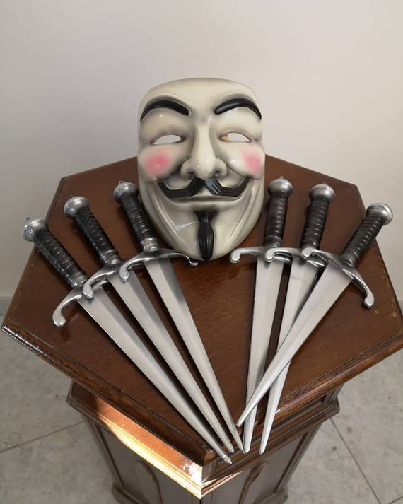 V for Vendetta Mask and Daggers Set Cosplay