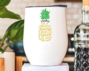 Pineapple Tumbler Etsy