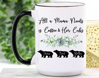2138579f23 Mama Bear Mug Personalized - Mama Bear Coffee Mug - Mama Bear Gift for  Mother's Day - Mama Bear Cubs - Mama Mug - Mama Gifts - Gift for Mama
