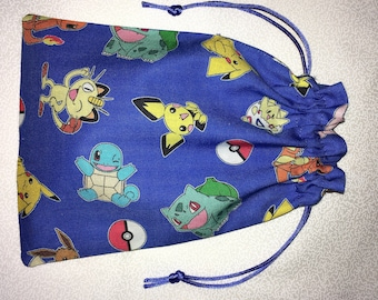 Standing Dice Bag Pokemon Party Drawstring