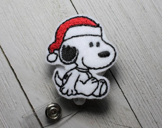 snow flake badge animal feltie Penguin badge holder Snow flake penguin badge holder with retractable reel