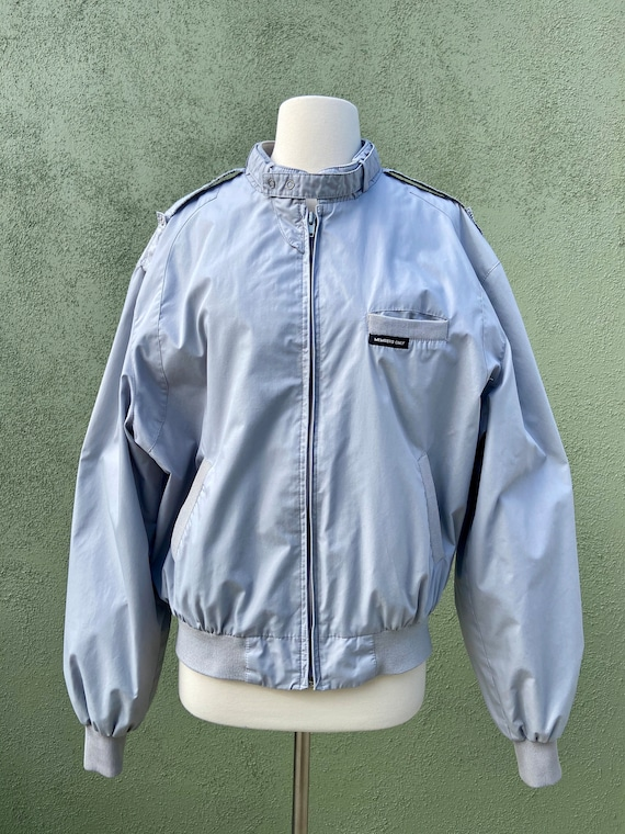 Vintage 1980s Rare Members Only Jacket In Light Gr