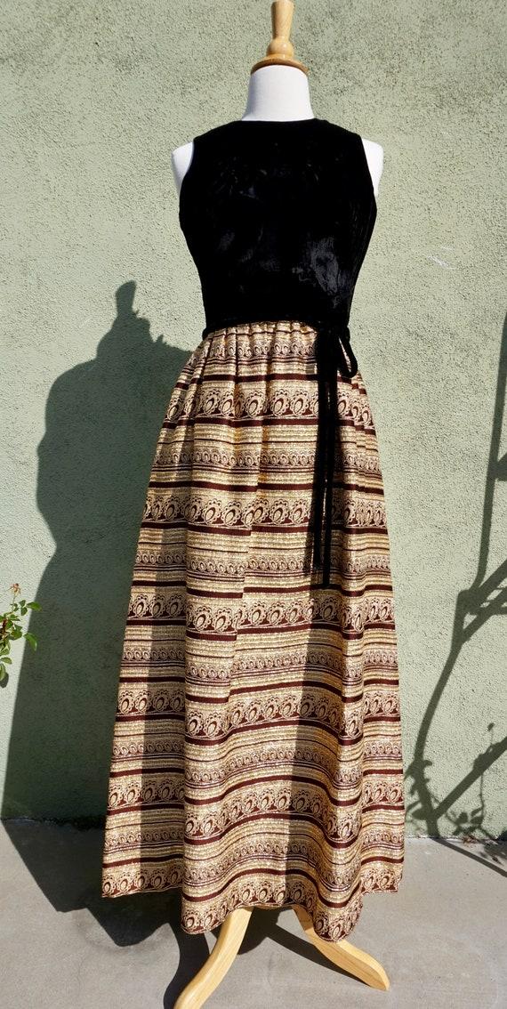 Vintage 1960s Sleeveless Maxi Dress By John Hogan
