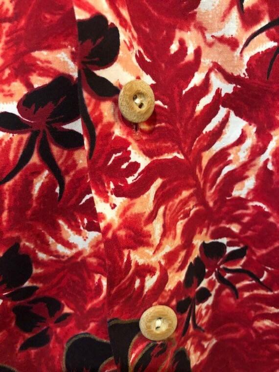 1950s Vintage Pali Hand Print Tiki Shirt - image 6