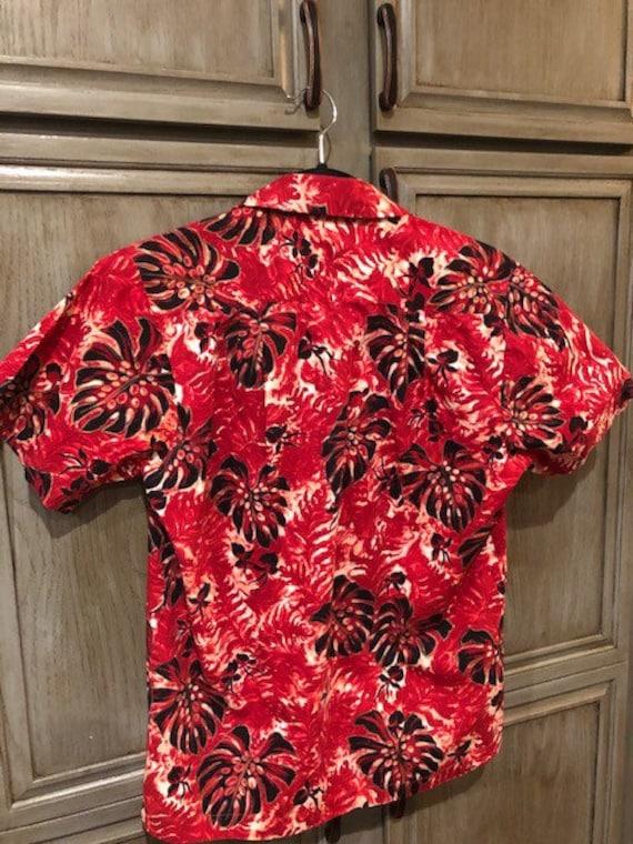 1950s Vintage Pali Hand Print Tiki Shirt - image 3