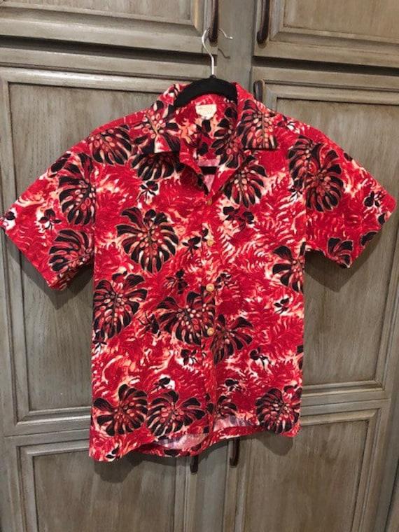 1950s Vintage Pali Hand Print Tiki Shirt