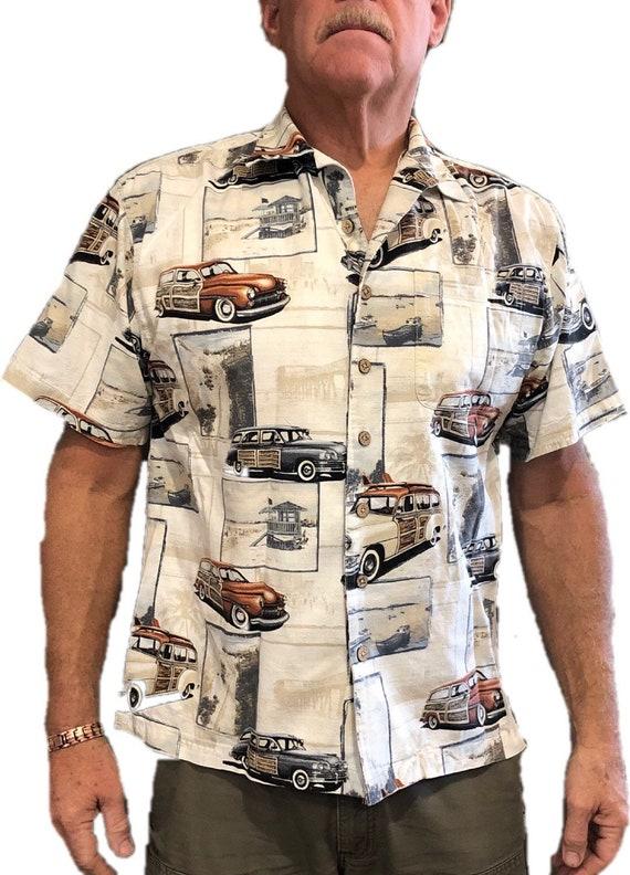 1990s Vintage Hawaiian Tiki Shirt