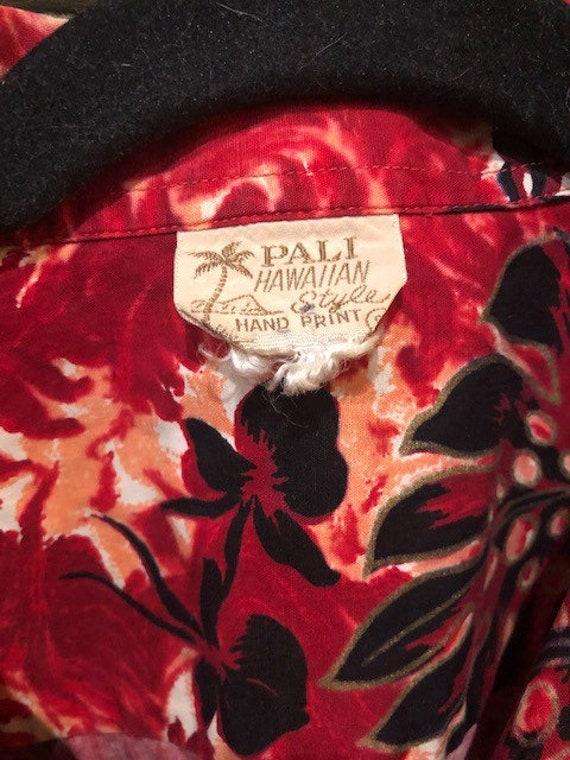 1950s Vintage Pali Hand Print Tiki Shirt - image 2