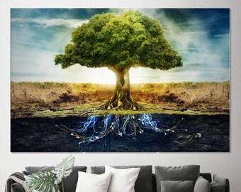 Tree Of Life Canvas Etsy