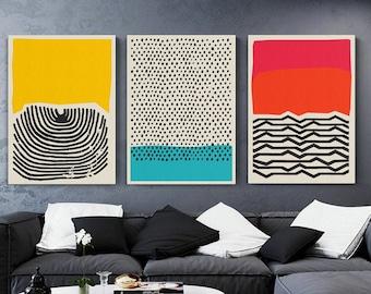 Modern Wall Art, Abstract Wall Art, Modern Art Prints, Modern Painting, Abstract Painting, Wall Decor, Abstract Modern Canvas Art, Set of 3