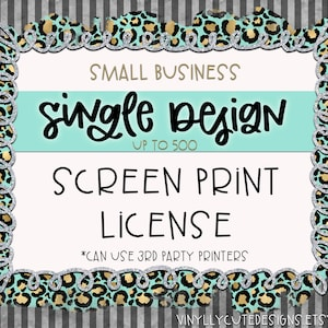 License for Printing Transfers of All Digital Designs Printed Transfer Extended License