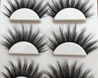 6d422687950 3PAIRS 3D long False Eyelashes silk soft long eye Lashes extension