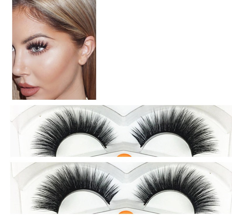 f017cd71c4b False lashes 100% Mink 3D eyelashes extension 14mm 2 pairs   Etsy
