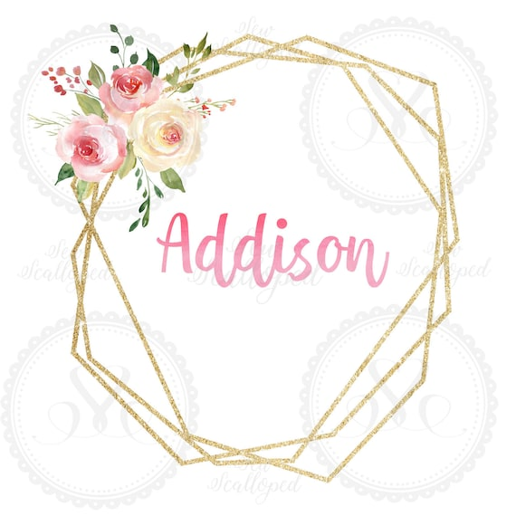 Baby Name Card-Addison