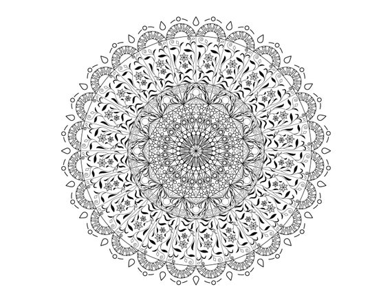 Mandala Coloring Pages Adult Coloring Sheet Printable Etsy