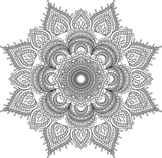 Mandala Coloring Pages Adult Coloring Sheet Printable Etsy