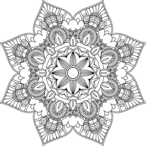 - Mandala Coloring Pages Adult Coloring Sheet Printable Etsy