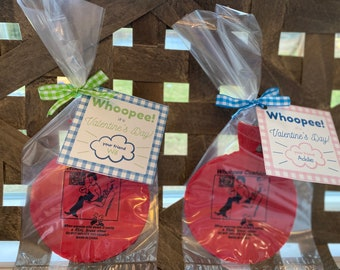 Valentine Whoopee Cushions, Valentine Gift Set. Personalized Tags. Bagged, Tagged & Read to Gift! Valentine mini Whoopee Cushion Favor