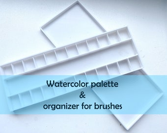 Watercolor palette - painters gift travel paint palette and art box