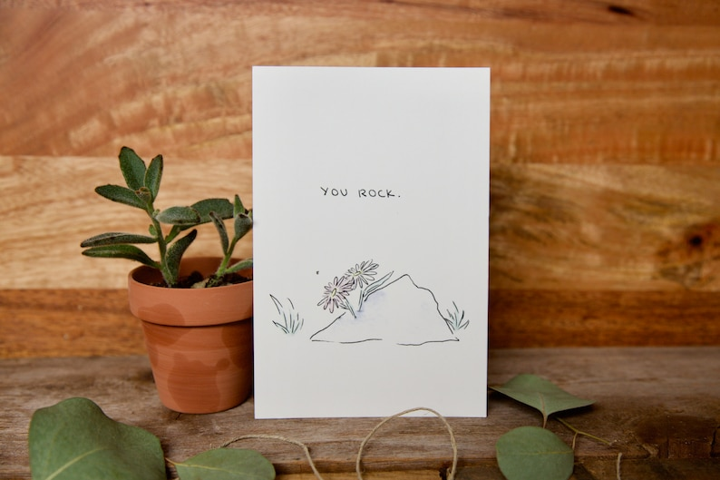 for boyfriend - Greeting card for any occasion best friend just because birthday blank inside sister  - anniversary mom You rock