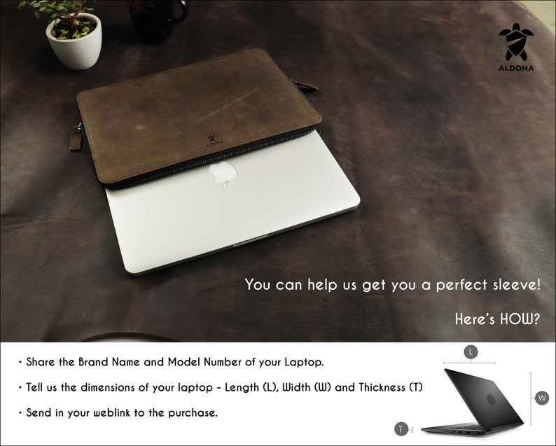 HP DELL ASUS Lenovo Leather Laptop Sleeve Case Bag with document holder pocket for MacBook 12 Inch 13 Inch 14 Inch 15 Inch