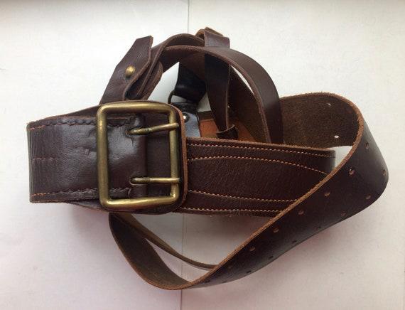 Soviet Belt Belts USSR Belt Clothing for Officer/'s Navy of the USSR Vintage Soviet Leather Belt Retro Belt Leather Belt Officer Belt