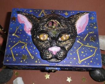 Astro Cat Wooden Chest, Storage