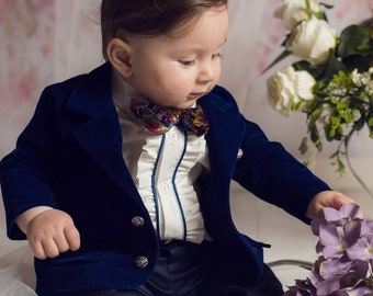 Sailor boy outfit Baby boy baptism outfit Wedding party Baby boys first birthday outfit Christening suit Family photo Nautical party suit