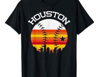 dc188be4 Houston Baseball Throwback Retro Astro Stripe 2018 Tee T-Shirt