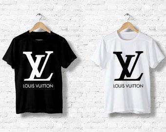 63c227e80f2 T-Shirt men women Louis Vuitton LV Italy Milan fashion Paris Fashion Black  White Black White Top S M L XL XXL Designer Logo