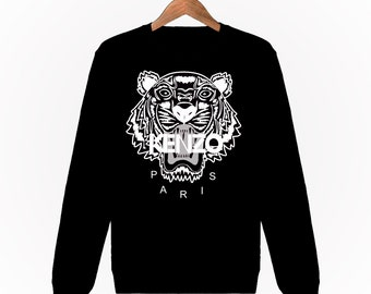 1ce307c2 Sweatshirt men women Kenzo Tiger Tiger black and white fashion Paris  Fashion Black Black Hoodie S M L XL XXL Designer Logo
