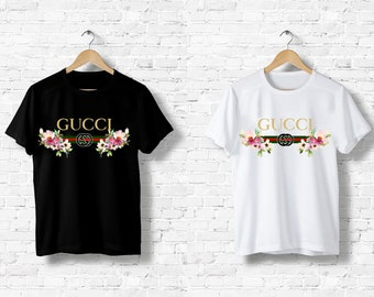 f831780e3 T-Shirt men women Gucci Belt Flowers Vintage Italy Milan fashion Paris  Fashion Black White Black White Top S M L XL XXL Designer Logo