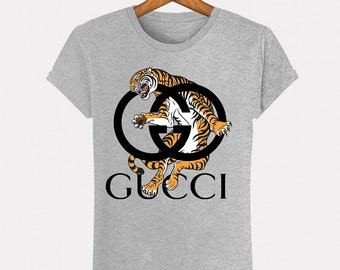 ff1b40411 Grey T-Shirt Heather Gucci Tiger Tiger Vintage fashion man woman Italy  Milan fashion Paris Fashion Top S M L XL XXL Designer Logo