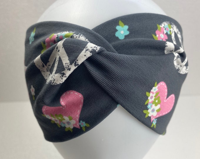 Hairband Hairbands Grey Colorful Hearts Peace Flowers Flower Spring Summer