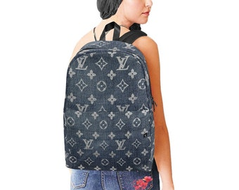 aaa1da00765b LV Inspired Denim Effect Backpack