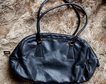 3e30d915aa73 Authentic Black Prada Leather Shoulder Bag with lock