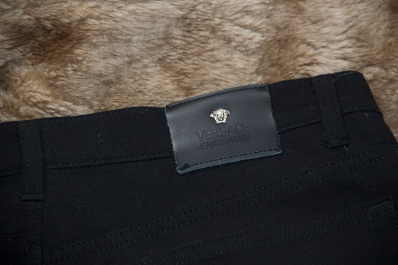 Versace black denim pants trousers UNISEX Versace