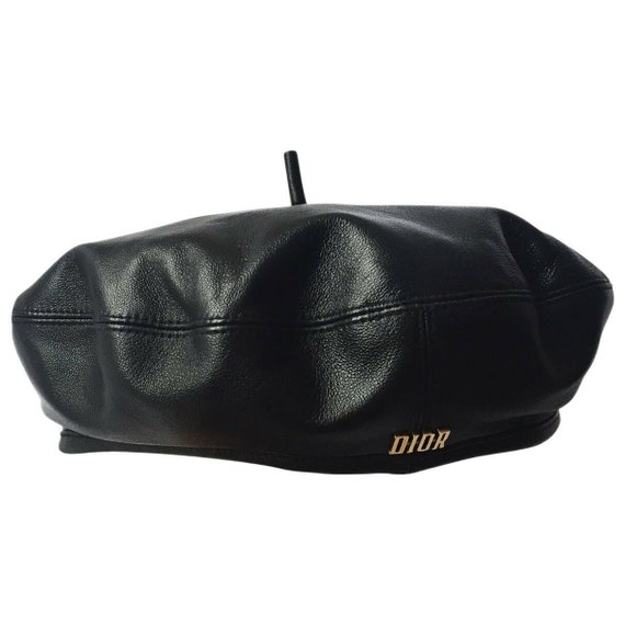 Christian Dior authentic leather beret