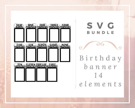 1st Birthday Banner Svg Files For Cricut Silhouette Cutting Etsy