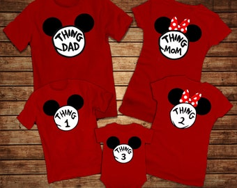 2cd9147382 Disney Thing 1,2,3 Shirts - Disney Family Shirts 2019 - Mickey Minnie Thing  1 Thing 2 Shirts - Matching Family Shirts