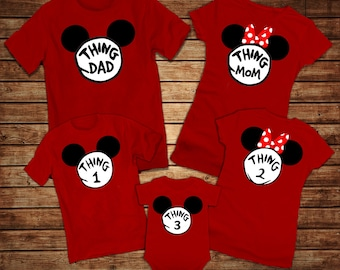 bbe8746d Disney Thing 1,2,3 Shirts - Disney Family Shirts 2019 - Mickey Minnie Thing  1 Thing 2 Shirts - Matching Family Shirts