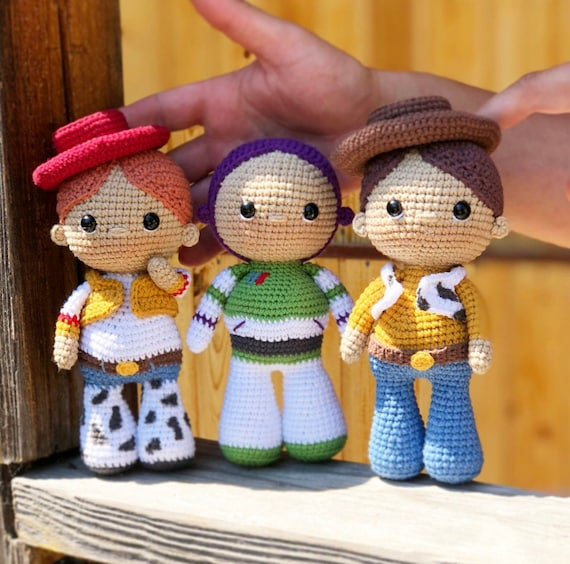 Crochet ENGLISH pattern The Toy Story 3 in 1