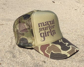 Adult Trucker Hat MSG Tribal Text Camo & Brown
