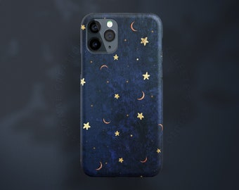 FALL iPhone 13 Case, iPhone 12 Case Personalized, Midnight Blue iPhone 13 Pro Case, Moon Stars iPhone 13 Pro max Case Celestes Cases©