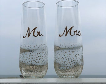 Mr and Mrs Toasting glasses