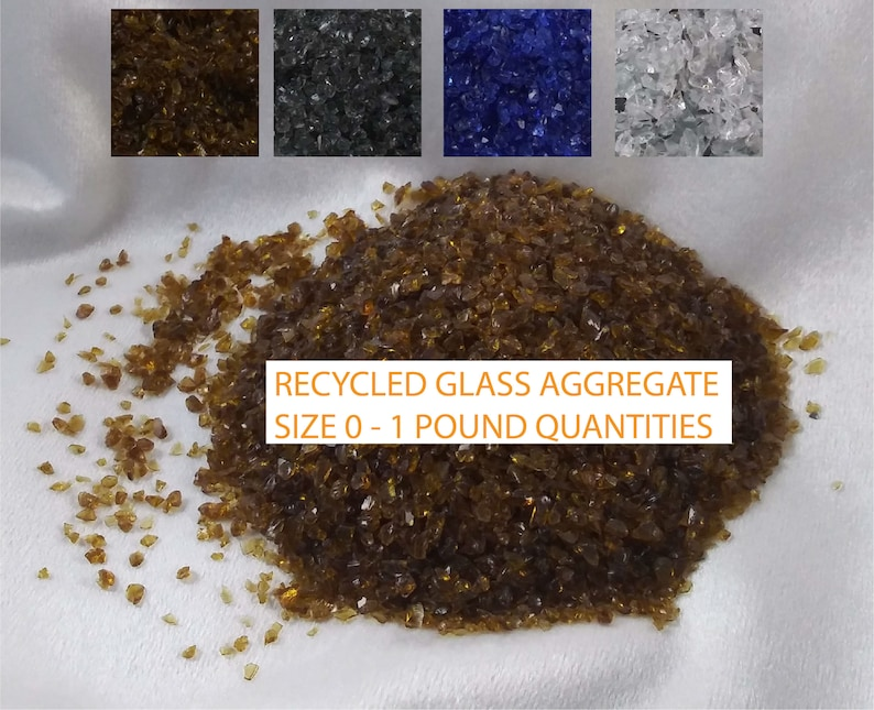 Recycled Glass Aggregate Size 0/1 Pound image 0