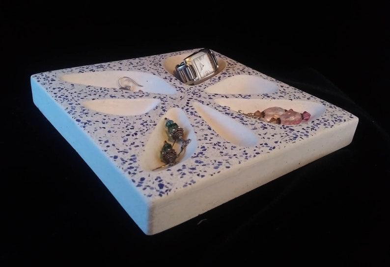 Concrete Tray/Jewelry/Keys/Terrazzo/Organic image 0